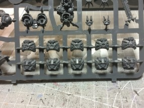 Chest pieces are easy to assemble since all back pieces are identical.