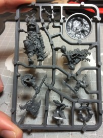 The kit comes in as many assemblies as possible, however it seems it was just laser-cut randomly for the chest piece.
