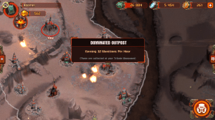 Each dominated outpost provides additional munitions. Thus we can argue the game encourages being aggressive to loot munitions by conquering, upgrading troops and tactics and starting the cycle anew.