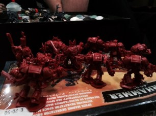 Blood Angels Terminators getting ready for clean-up.