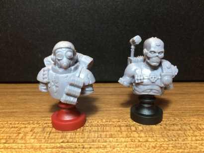 And the busts themselves! These are the Imperial additions, Stormtrooper and Eversor Assassin.