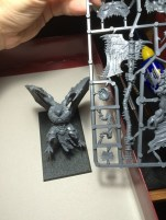 Size comparison between the two-handed axe and a Daemon Prince. This guy is huge.