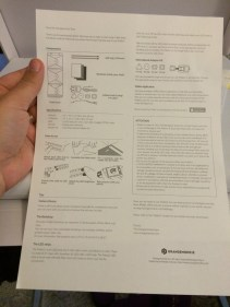 This time the box comes with a full set of instructions on how to set it up and some pointers about the LEDs.