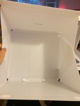 Setting up the box is the same as before - attach top and bottom flaps then support with the middle.