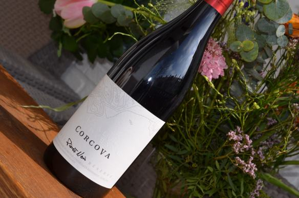 Pinot Noir from Corcova. Top quality. Expressive and pleasant with fruity aromas of pomegranate and spices. Complex and rich with soft tanins. Maturation of 12 months in oak barrels.