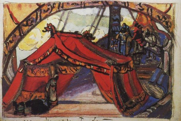 Корабль Тристана, 1912. Эскиз декорации к опере Р.Вагнера ...