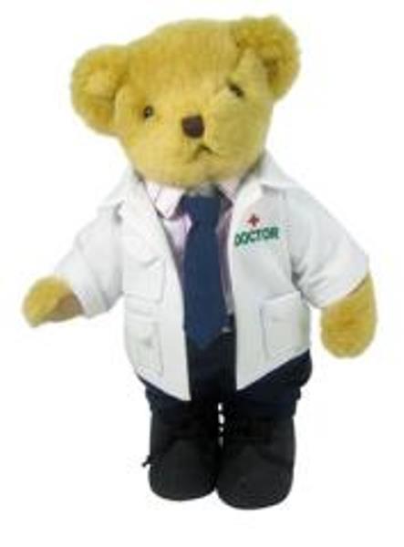 Boneka Teddy Bear Maskot Kedokteran dengan Seragam