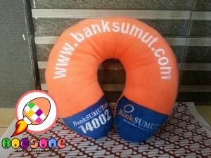 Bantal Leher Souvenir Bank SUMUT Sumatera Utara