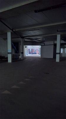 'Stien' mellem Borggade og Paradisgade går igennem garagen ...