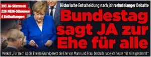 Bundestag sagt JA zur Ehe für alle