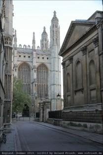 King's College Chapel, Rückseite