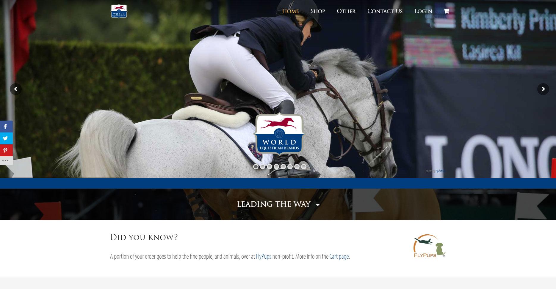 World Equestrian Brands E-Commerce Store
