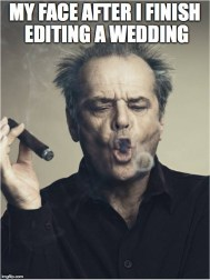 Jack Nicholson Smoking Cigar 'After I Finish Editing A Wedding'
