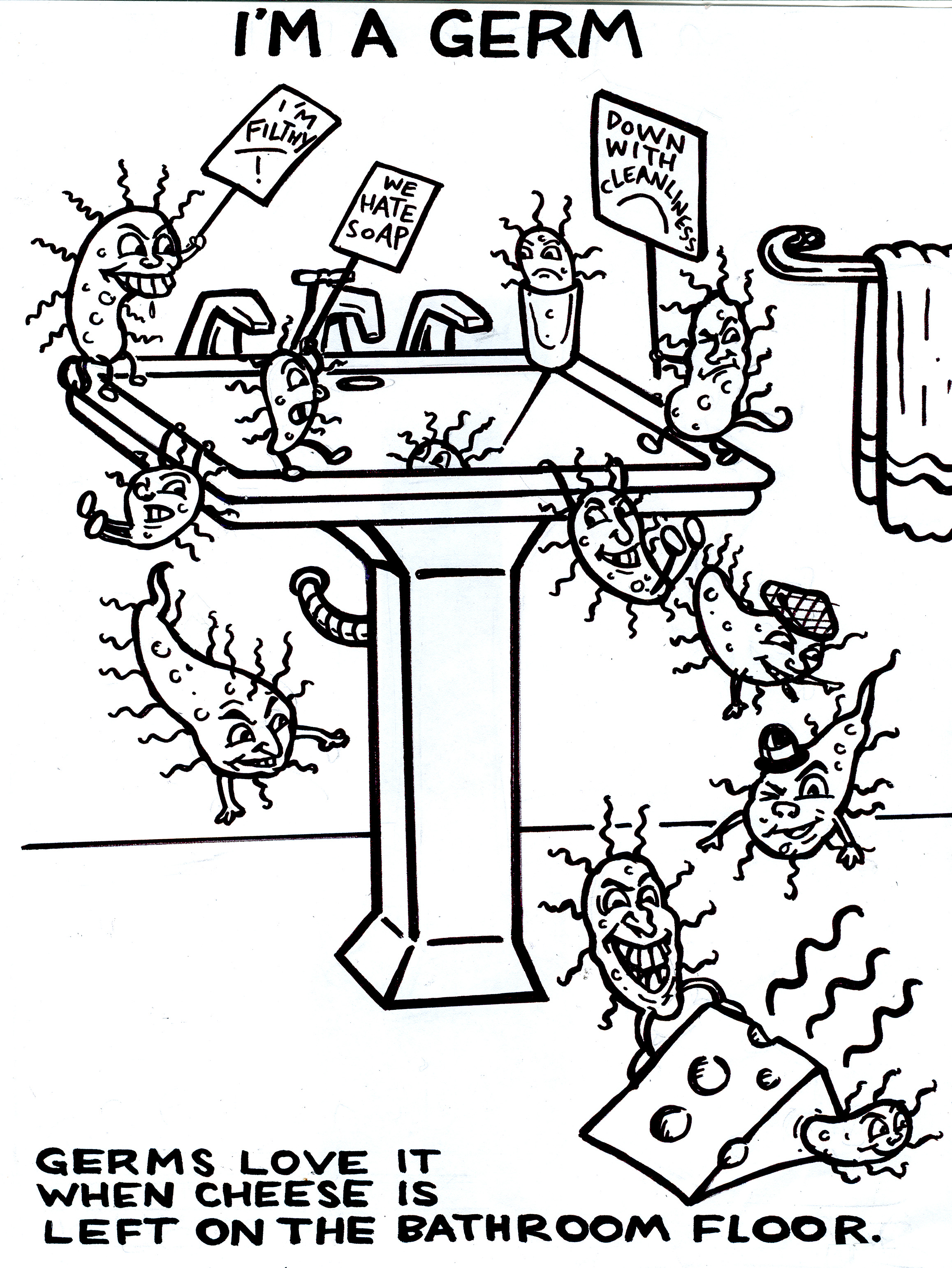 Clip Art Germ Coloring Pages Breadedcat Free Printable Coloring
