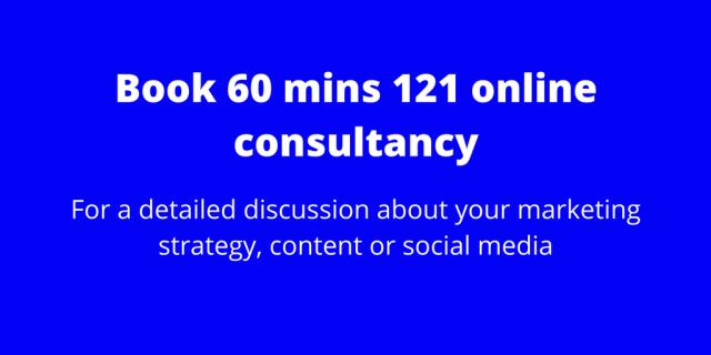 60 mins 121 online consultancy