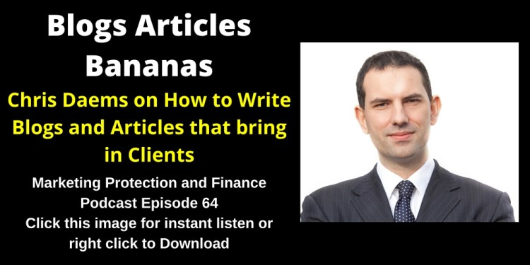 Chris Daems on How to Write Blogs and Articles that bring in Clients