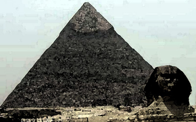 Giant pyramid of Gisa
