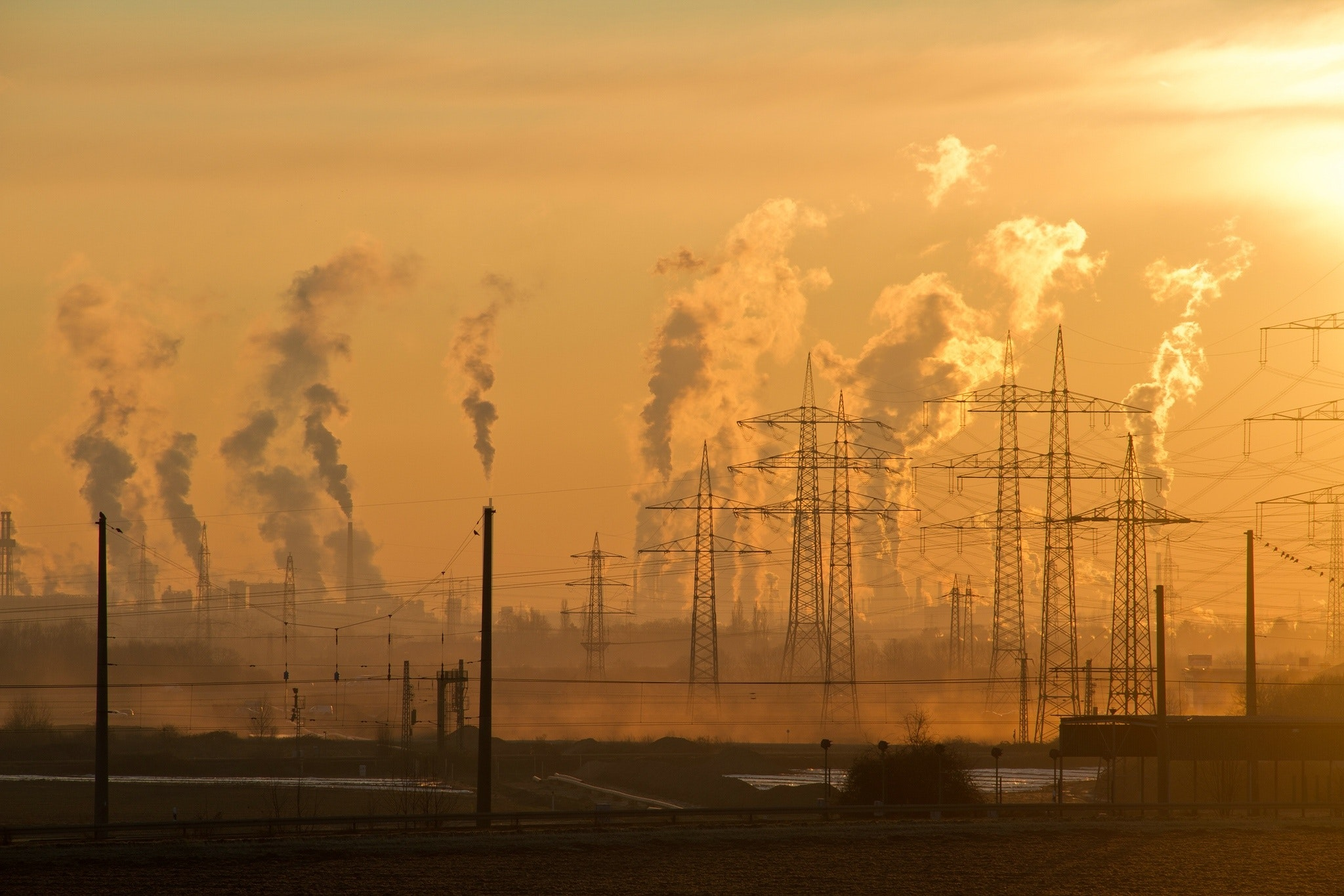 Global warming from power stations generating electricity