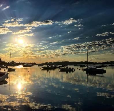 Boats Reflection Sunrise