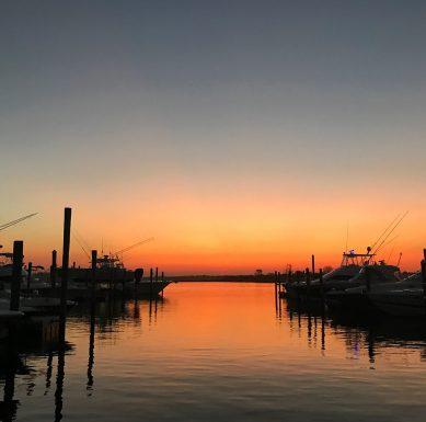 Sunrise Orange Sky & Boats