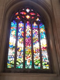 So difficult to capture stained glass! (At least for the amateur photographer.) This window commemorates PJP2's 1982 visit and Liturgy for the Sick.