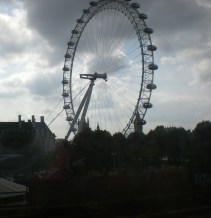Snapshot of the eye from the train from London's Bridge to Charing Cross