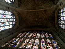 Ceiling of King's College Chapel -- 2nd largest chapel in the world