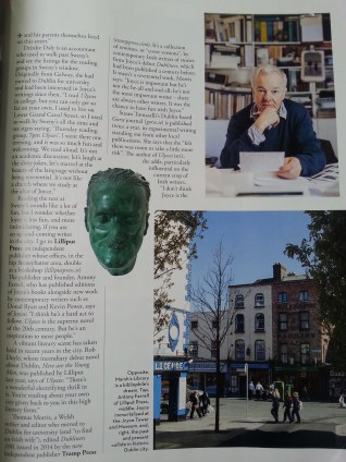 Flipping through the magazine on my Aer Lingus flight and spotted an article featuring the Lilliput Press (http://www.lilliputpress.ie/), where Katie worked in Dublin! My introduction to this awesome little press, publisher, and bookshop was stamping Christmas cards with the owner featured in the top right corner. :)