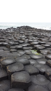 The Giant's Causeway, where the giant Finn McCool built a path across the North Channel to face his rival giant in Scotland. When he got there, Finn realized the Scottish giant was even more giant than he, and so Finn fled back across the causeway, destroying it behind him.