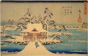 800px-Hiroshige_Benzaiten_Shrine_at_Inokashira_in_Snow