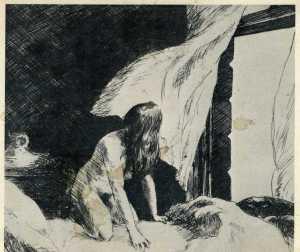 Edward Hopper, 'Evening Wind,' postcard img745