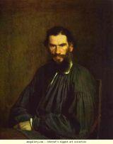 portrait of Tolstoy by Ivan Kramskoy, 1873