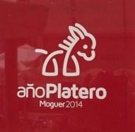 Public sign, Moguer, Spain. Moguer was the birthplace of poet Juan Ramón Jiménez. The year 2014 was the centennial of the publication of Jiménez's Platero y yo.