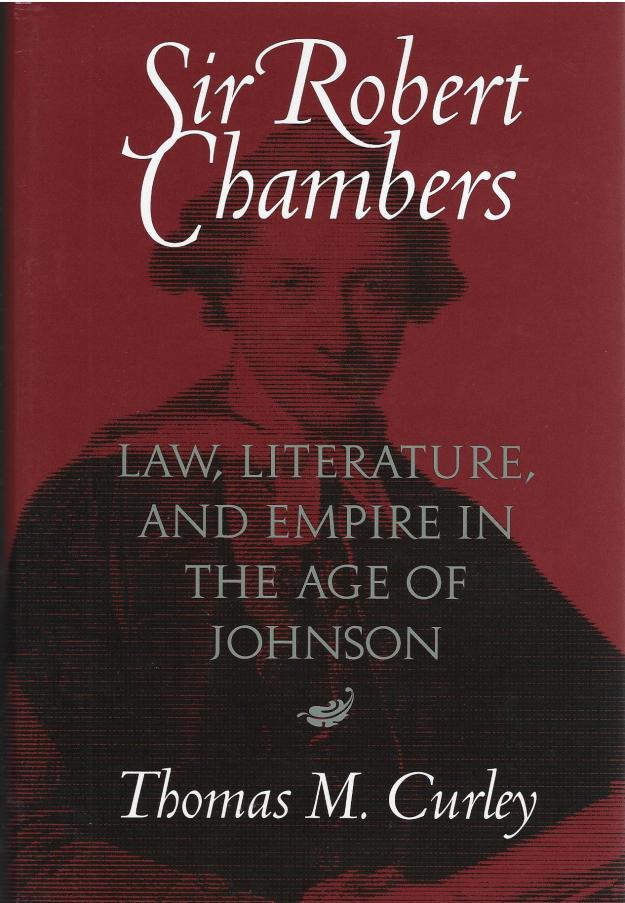 Curley, 'Sir Robert Chambers' - book cover.jpg
