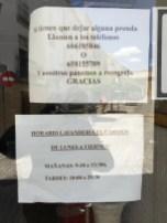 sign in laundry window, Baeza