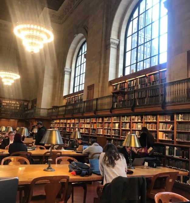 main reading room, NYPL 12-6-2018
