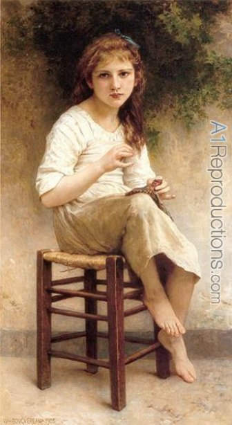 'Young Sewing Girl'