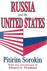 """Pitirim A. Sorokin, """"Russia and the United States,"""" paperback edition; front cover"""