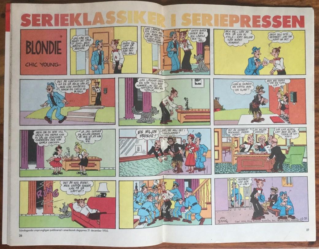 Blondie i Seriepressen nr 9, 1993