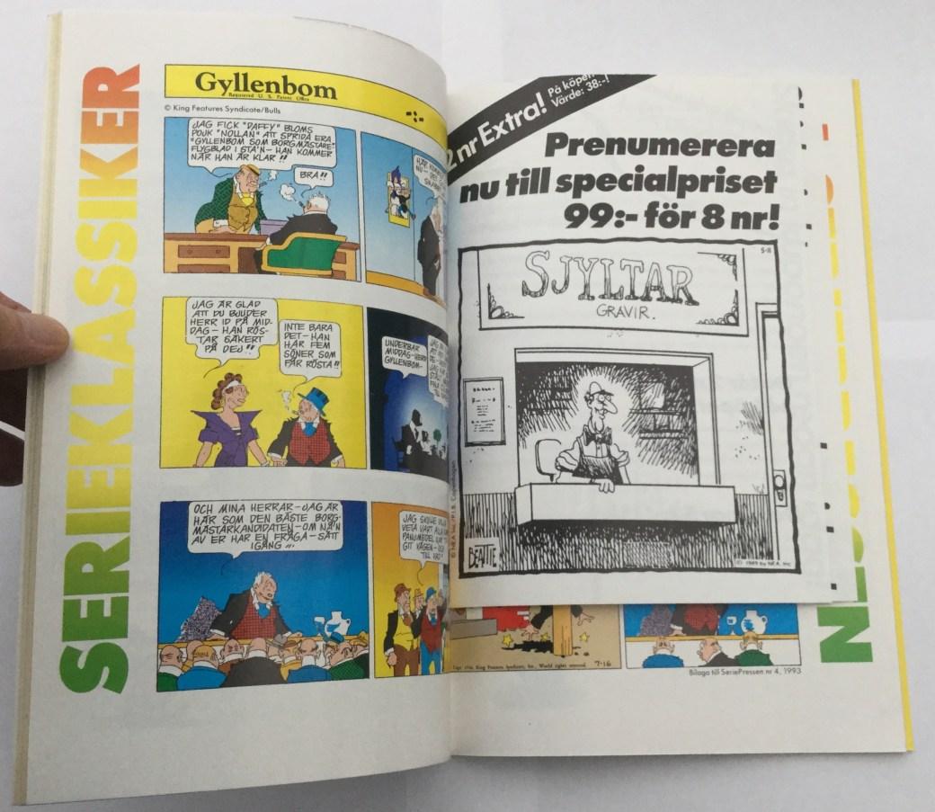 Gyllenbom i Seriepressen nr 4, 1993