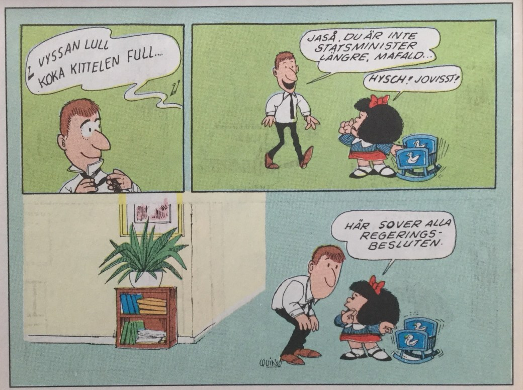 Mafalda ur SeriePressen nr 5, 1993
