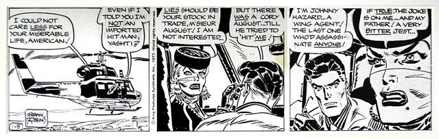 En av Frank Robbins sista Johnny Hazard-strippar från 5 januari 1977