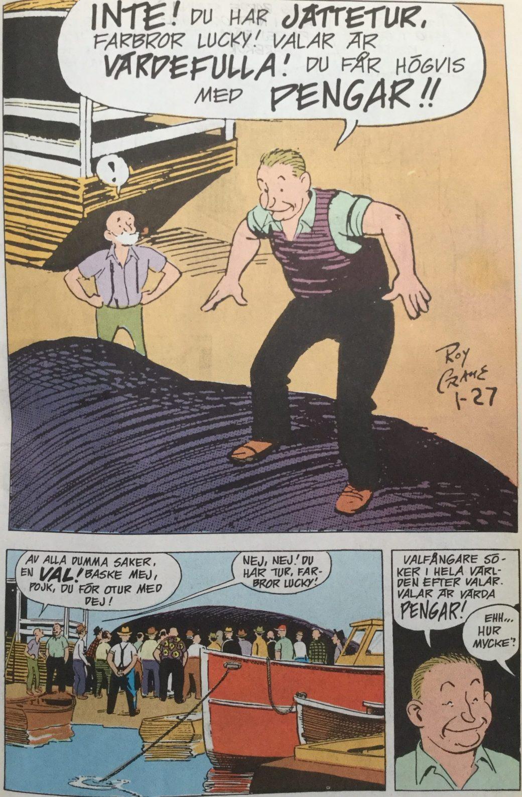 Ur Buz Sawyer och Rosco Sweeney som seriebilaga i SeriePressen nr 7, 1993