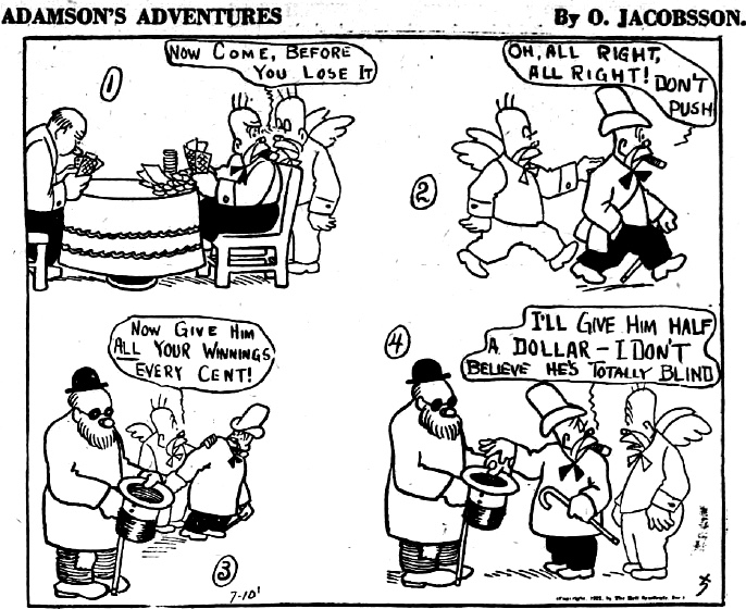 I USA hette serien Adamsonm Adventures, eller Silent Sam