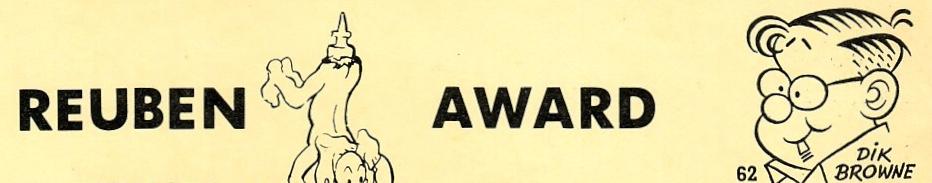 Dik Browne fick Reuben Award två gånger, 1962 och -73