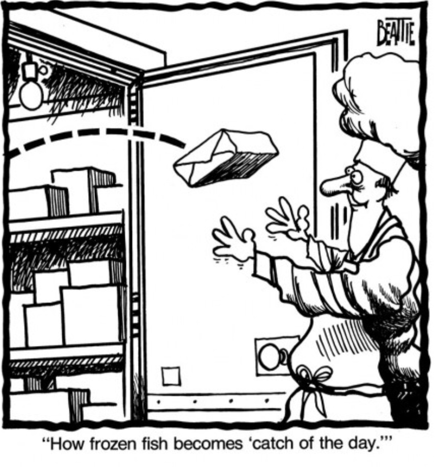 """How frozen food becomes """"catch of the day"""""""