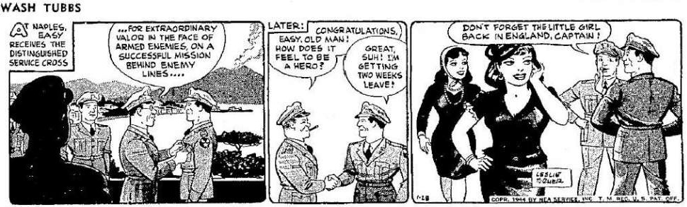 Wash Tubbs av Leslie Turner från 28 januari 1944