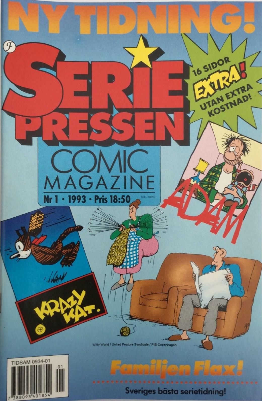 SeriePressen nr 1, 1993 från Formatic Press 1993-94