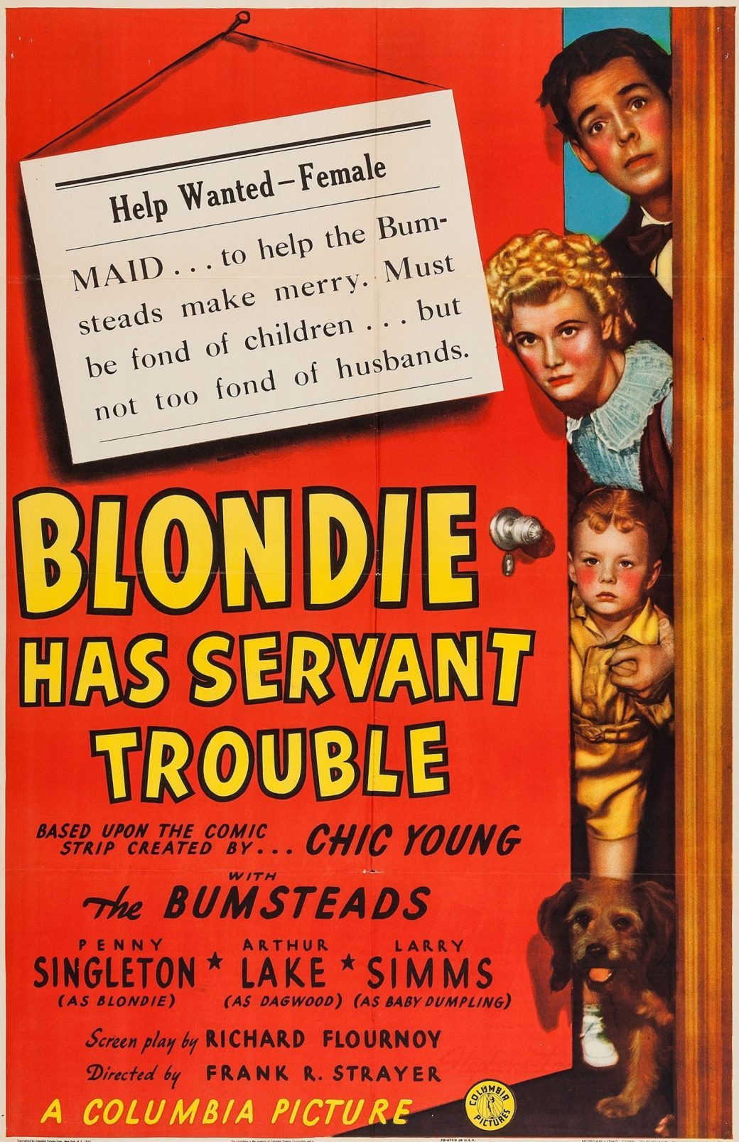 Filmen Blondie has servant trouble