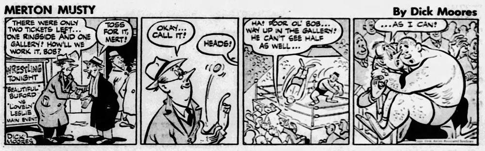 En stripp med Merton Musty från 10 mars 1948
